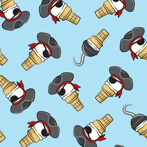Pirate ice cream cones - toss on light blue - LAD19