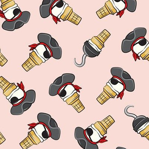 Pirate ice cream cones - toss on pink - LAD19