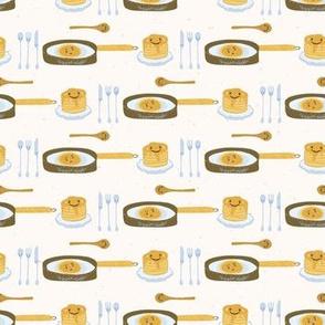 Cute vector pancake day breakfast illustration