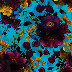 """18"""" Moody Florals by UtART - Mystic Night 27"""