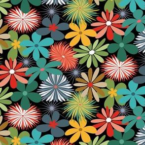 Retro Floral Kaleidoscope