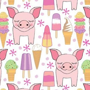 pigs-and-ice-cream-lavender-dots-on-white