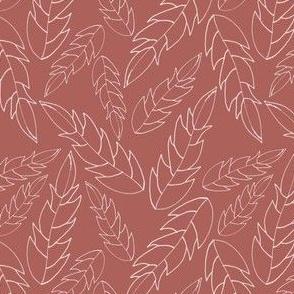 simple collection leaf rhubarb