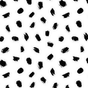 grunge dots - small scale black and white ink