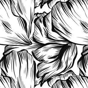 Large Ink Petals