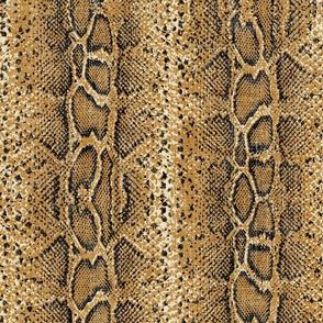 ochre snake  on linen