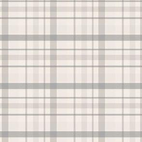 Plaid Cream and Grey Plaid//Pebble Grove