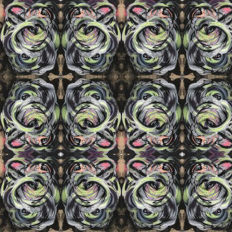Dark and Light curvilinear design fabric by lanabullard on Spoonflower - custom fabric