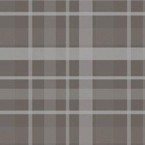 Brown Grey Plaid//Pebble Grove