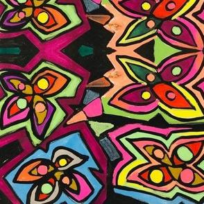 Geometric Flower Design 1