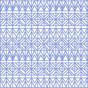 Tribal Grid Blue Purple