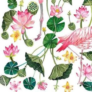 Tropical Pink Flamingos