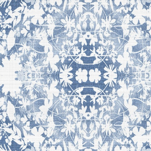boho faded blue garden linen