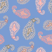 Exotic Paisley Blue Pink