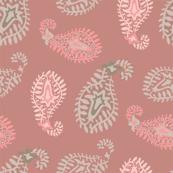 Exotic Paisley Pink Brown Beige
