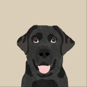 "18"" Black Labrador Pillow with cut lines - dog pillow panel, dog pillow, pillow cut and sew -"