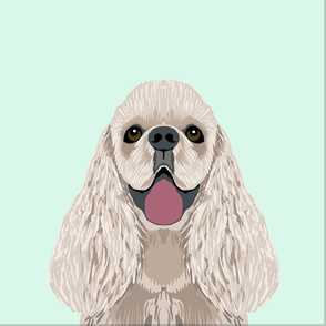 """18"""" Cocker spaniel Dog Pillow with cut lines - dog pillow panel, dog pillow, pillow cut and sew -"""