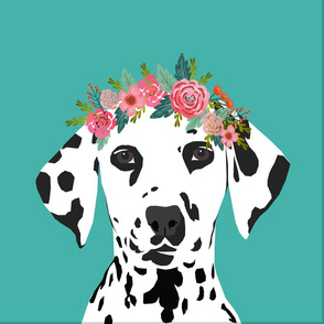 """18"""" Dalmatian Dog Pillow with cut lines - dog pillow panel, dog pillow, pillow cut and sew - floral"""