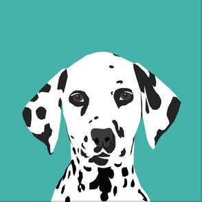 """18"""" Dalmatian Dog Pillow with cut lines - dog pillow panel, dog pillow, pillow cut and sew -"""