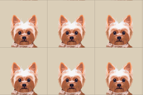 """18"""" Yorkie Dog Pillow with cut lines - dog pillow panel, dog pillow, pillow cut and sew -  fabric by petfriendly on Spoonflower - custom fabric"""