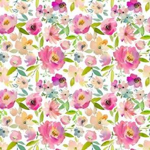 pastel flower garden