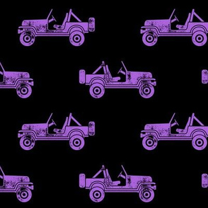 jeeps - purple on black - LAD19
