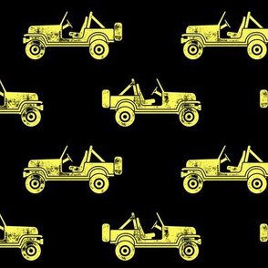 jeeps - yellow on black - LAD19