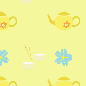 Yellow japanese tea party
