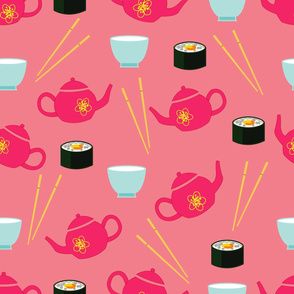 Japanese tea party pink