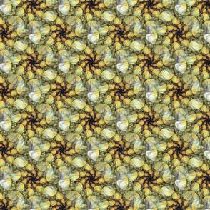 Yellow Dots Descending - Spiral Fractal