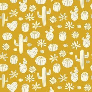 Llama Cactus mustard (mini)