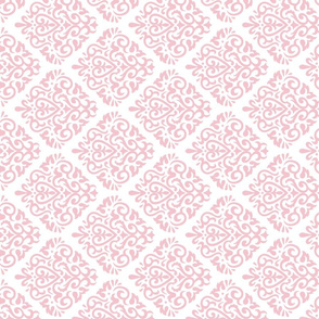 Diamond Damask Pink Rotated