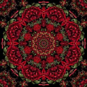 Red Peonies Mandala