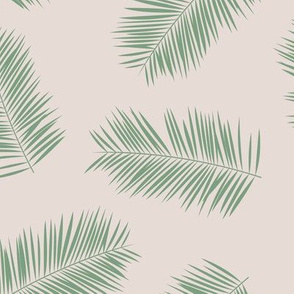 Palm leave summer jungle sweet surf theme tropical garden print green beige
