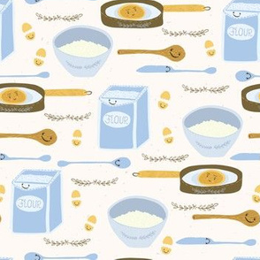 Cute vector pancake day breakfast recipe llustration
