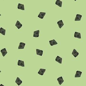 dark accordions small on green