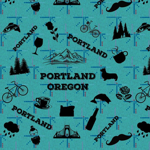 Portland Icons on PDX Carpet