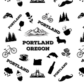Portland Icons Enlarged Size