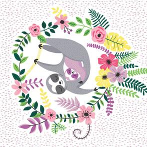 mom and baby sloth // panel