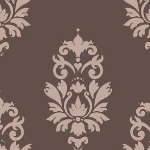 Coffe and cream damask pattern