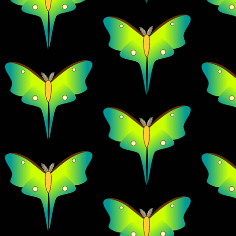 lunarmoth-sm-blk fabric by spunky_eclectic on Spoonflower - custom fabric