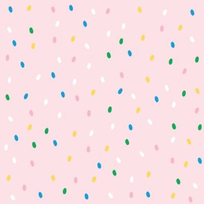 Spring 19 ditsy dots pink large
