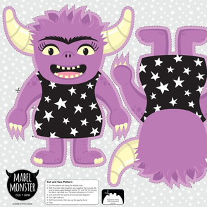 Mabel Monster Cut and Sew Plushie Pillow Project