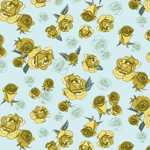 Sketched Roses Sky