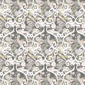 Marbled Paper White Scrolls