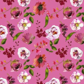 pink background floral