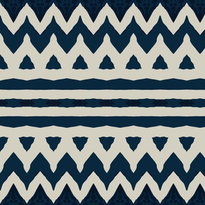 navy zebra stripes