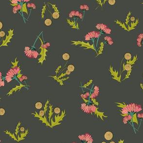 Marigolds and Dandelions Gray 2-01