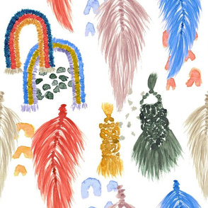 Macrame Feathers + Rainbows