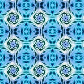 Blue and White Rose Fractal